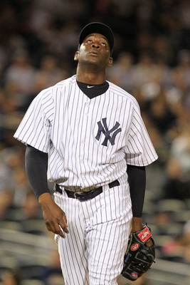 NEW YORK, NY - APRIL 26:  Rafael Soriano #29 of the New York Yankees walks to the dugout after the top of the eighth inning against the Chicago White Sox at Yankee Stadium on April 26, 2011 in the Bronx borough of New York City.  (Photo by Chris Trotman/G