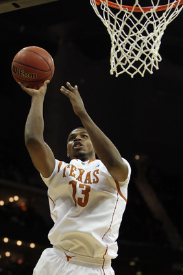 KANSAS CITY, MO - MARCH 10:  Tristan Thompson #13 of the Texas Longhorns goes up for a shot against the Oklahoma Sooners during their quarterfinal game in the 2011 Phillips 66 Big 12 Men's Basketball Tournament at Sprint Center on March 10, 2011 in Kansas