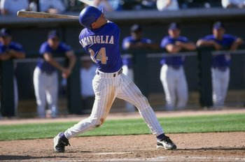 6 Mar 1999: Outfielder Pete Incaviglia #24 of the Arizona Diamondbacks swings during the Spring Training game against the Chicago White Sox  at the Tucson Electric Park in Tucson, Arizona.