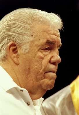 1992: Trainer Lou Duva looks on.