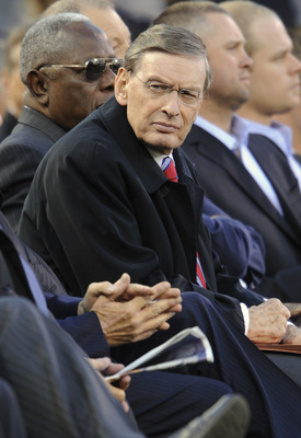 MINNEAPOLIS, MN - MAY 26: MLB commissioner Bud Selig at the memorial for Hall of Famer Harmon Killebrew on May 26, 2011 at Target Field in Minneapolis, Minnesota. Harmon Killebrew passed away on May 17, 2011 after a battle with esophageal cancer. (Photo b