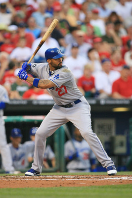 PHILADELPHIA - JUNE 8: Center fielder Matt Kemp #27 of the Los Angeles Dodgers bats during a game against the Philadelphia Phillies at Citizens Bank Park on June 8, 2011 in Philadelphia, Pennsylvania. The Phillies won 2-0. The Phillies won 2-0. (Photo by