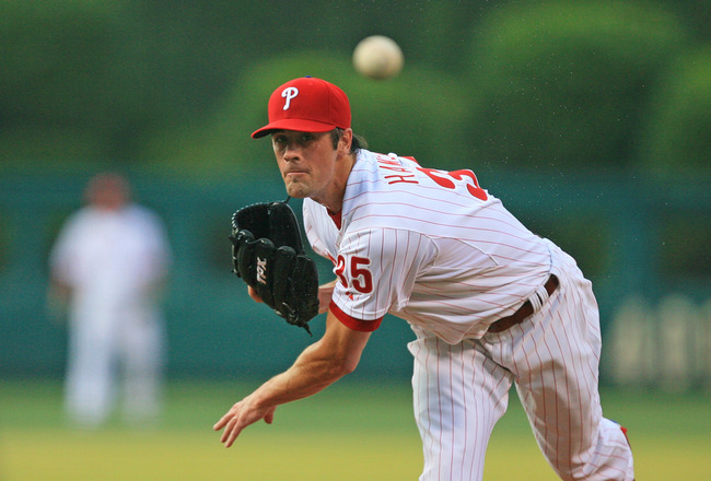 PHILADELPHIA - JUNE 8: Starting pitcher Cole Hamels #35 of the Philadelphia Phillies throws a pitch during a game against the Los Angeles Dodgers at Citizens Bank Park on June 8, 2011 in Philadelphia, Pennsylvania. (Photo by Hunter Martin/Getty Images)