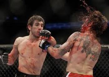 Kenny Florian delivering damage in the stand-up