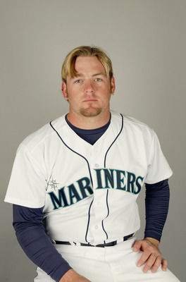 PEORIA, AZ - FEBRUARY 27:  Catcher Ryan Christianson #26 of the Seattle Mariners poses for a portrait during the 2004 MLB Spring Training Photo Day at Peoria Stadium on February 27, 2004 in Peoria, Arizona. (Photo by Harry How/Getty Images)