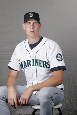 21 FEB 2002: Ryan Anderson #56 of the Seattle Mariners poses for a photo during Team Photo Day at the Mariners Spring Training in Peoria, Az. Digital Photo. Photo by Tom Hauck/Getty Images.