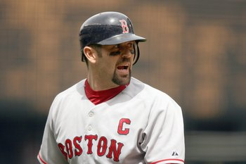 SEATTLE - June 27: Jason Varitek#33 of the Boston Red Sox looks back during the game against the Seattle Mariners on June 27, 2007 at Safeco Field in Seattle, Washington. (Photo by Otto Greule Jr/Getty Images)