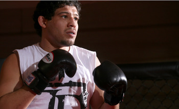HOLLYWOOD - MARCH 17:  Strikeforce World Lightweight Champion Gilbert 'El Nino' Melendez attends the CBS' Strikeforce MMA Fighters Open Media Workout on March 17, 2010 in Hollywood, California.  (Photo by Valerie Macon/Getty Images)