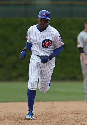 CHICAGO, IL - MAY 27:  Alfonso Soriano #12 of the Chicago Cubs runs the bases after hitting a two-run home run in the bottom of the 9th inning against the Pittsburgh Pirates at Wrigley Field on May 27, 2011 in Chicago, Illinois. The Pirates defeated the C