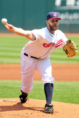 CLEVELAND, OH - JUNE 8: Justin Masterson #63 of the Cleveland Indians pitches during the first inning against the Minnesota Twins at Progressive Field on June 8, 2011 in Cleveland, Ohio. The Twins defeated the Indians 3-2 in extra innings. (Photo by Jason