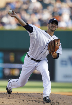 DETROIT - JUNE 01: Rick Porcello #48 of the Detroit Tigers pitches in the first inning of the game against the Minnesota Twins at Comerica Park on June 1, 2011 in Detroit, Michigan.  (Photo by Leon Halip/Getty Images)