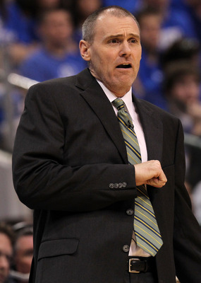 DALLAS, TX - JUNE 09:  Head coach Rick Carlisle of the Dallas Mavericks reacts as he coaches against the Miami Heat in Game Five of the 2011 NBA Finals at American Airlines Center on June 9, 2011 in Dallas, Texas.  NOTE TO USER: User expressly acknowledge