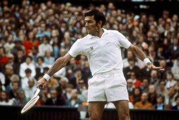Australian tennis player Ken Rosewall, circa 1965. (Photo by Getty Images)