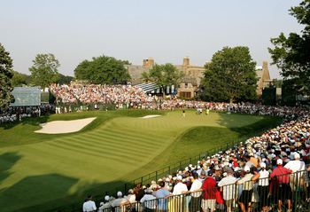MAMARONECK, NY - JUNE 18:  Colin Montgomerie of Scotland putts on the 18th green during the final round of the 2006 US Open Championship at Winged Foot Golf Club on June 18, 2006 in Mamaroneck, New York. Geoff Ogilvy won the Championship by one stroke.  (
