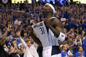 DALLAS, TX - JUNE 09:  Jason Terry #31 of the Dallas Mavericks reacts after he made a 3-point shot late in the fourth quarter against the Miami Heat in Game Five of the 2011 NBA Finals at American Airlines Center on June 9, 2011 in Dallas, Texas.  NOTE TO