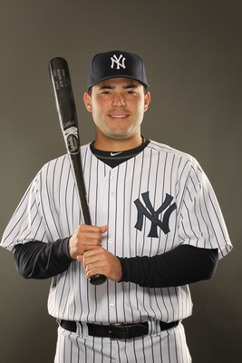 TAMPA, FL - FEBRUARY 23:  Jesus Montero #83 of the New York Yankees poses for a portrait on Photo Day at George M. Steinbrenner Field on February 23, 2011 in Tampa, Florida.  (Photo by Al Bello/Getty Images)
