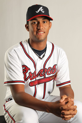 LAKE BUENA VISTA, FL - FEBRUARY 21: Randall Delgado #65 of the Atlanta Braves during Photo Day at  Champion Stadium at ESPN Wide World of Sports of Complex on February 21, 2011 in Lake Buena Vista, Florida.  (Photo by Mike Ehrmann/Getty Images)