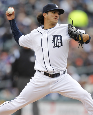 DETROIT, MI - APRIL 08:  Brayan Villarreal #60 of the Detroit Tigers throws a pitch while playing the Kansas City Royals at Comerica Park on April 8, 2011 in Detroit, Michigan.  (Photo by Gregory Shamus/Getty Images)