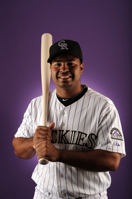 SCOTTSDALE, AZ - FEBRUARY 24:  Wilin Rosario #12 of the Colorado Rockies poses for a portrait during photo day at the Salt River Fields at Talking Stick on February 24, 2011 in Scottsdale, Arizona.  (Photo by Harry How/Getty Images)