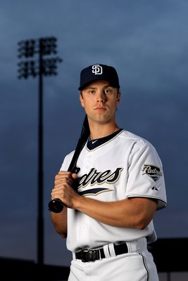 PEORIA, AZ - FEBRUARY 27:  James Darnell of the San Diego Padres poses during photo media day at the Padres spring training complex on February 27, 2010 in Peoria, Arizona.  (Photo by Ezra Shaw/Getty Images)