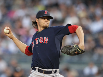 NEW YORK, NY - MAY 13:  Clay Buchholz #11 of the Boston Red Sox pitches against the New York Yankees during their game on May 13, 2011 at Yankee Stadium in the Bronx borough of New York City.  (Photo by Al Bello/Getty Images)