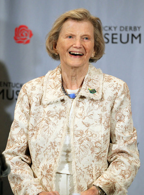 LOUISVILLE, KY - APRIL 29:  Secretariat owner Penny Chenery speaks to the media alongside Producer Mark Ciardi, actress Diane Lane, and Director Randall Wallace at a press conference highlighting the release of Walt Disney Studios Motion Pictures film 'Se