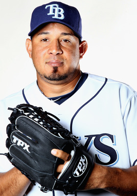 FT. MYERS, FL - FEBRUARY 22:  Joel Peralta #62 of the Tampa Bay Rays poses for a portrait during the Tampa Bay Rays Photo Day on February 22, 2011 at the Charlotte Sports Complex in Port Charlotte, Florida.  (Photo by Elsa/Getty Images)