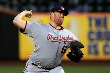 NEW YORK, NY - APRIL 08:  Closing pitcher Todd Coffey #60 of the Washington Nationals throws a pitch against the New York Mets during the Mets' Home Opener at Citi Field on April 8, 2011 in the Flushing neighborhood of Queens in New York City.  (Photo by
