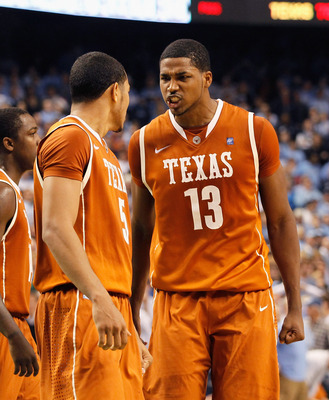 GREENSBORO, NC - DECEMBER 18:  Tristan Thompson #13 of the Texas Longhorns against the North Carolina Tar Heels at Greensboro Coliseum on December 18, 2010 in Greensboro, North Carolina.  (Photo by Kevin C. Cox/Getty Images)