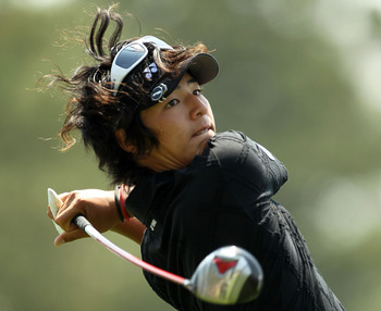 AUGUSTA, GA - APRIL 08:  Ryo Ishikawa of Japan hits his tee shot on the first hole during the second round of the 2011 Masters Tournament at Augusta National Golf Club on April 8, 2011 in Augusta, Georgia.  (Photo by Jamie Squire/Getty Images)