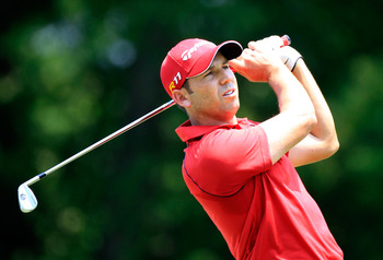 MEMPHIS, TN - JUNE 09:  Sergio Garcia of Spain plays a shot on the 7th hole during the first round of the FedEx St. Jude Classic at TPC Southwind on June 9, 2011 in Memphis, Tennessee.  (Photo by Sam Greenwood/Getty Images)