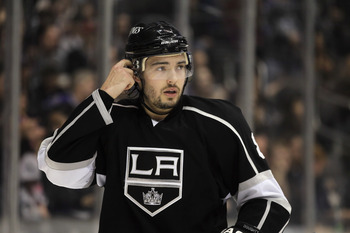LOS ANGELES, CA - APRIL 02:  Drew Doughty #8 of the Los Angeles Kings looks on against the Dallas Stars at Staples Center on April 2, 2011 in Los Angeles, California.  (Photo by Jeff Gross/Getty Images)