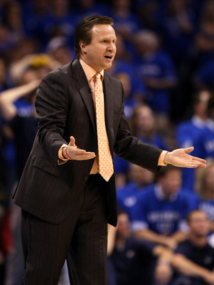 OKLAHOMA CITY, OK - MAY 23:  Head coach Scott Brooks of the Oklahoma City Thunder reacts while taking on the Dallas Mavericks in Game Four of the Western Conference Finals during the 2011 NBA Playoffs at Oklahoma City Arena on May 23, 2011 in Oklahoma Cit