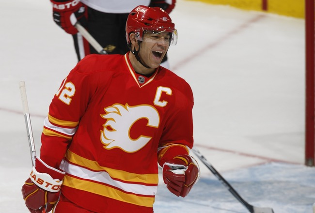 CALGARY, CANADA - FEBRUARY 9: Jarome Iginla #12 of the Calgary Flames skates against the Ottawa Senators on February 9, 2011 at Scotiabank Saddledome in Calgary, Alberta, Canada. (Photo by Dale MacMillan/Getty Images)