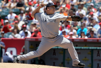 ANAHEIM, CA - JUNE 05:  Bartolo Colon #40 of the New York Yankees throws a pitch against the Los Angeles Angels of Anaheim on June 5, 2011 at Angel Stadium in Anaheim, California.  The Yankees won 5-3.  (Photo by Stephen Dunn/Getty Images)