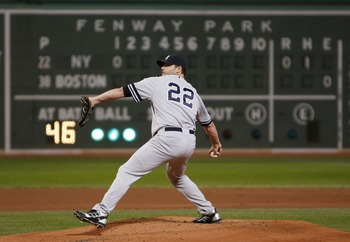 BOSTON - SEPTEMBER 16:  Roger Clemens #22 of the New York Yankees throws during a game against the Boston Red Sox  at Fenway Park on September 16, 2007 in Boston, Massachusetts.  (Photo by Jim Rogash/Getty Images)