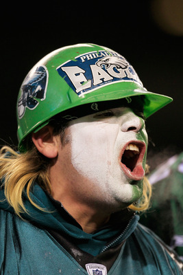 PHILADELPHIA, PA - JANUARY 09:  A Philadelphia Eagles fan watches their game against the Green Bay Packers during the 2011 NFC wild card playoff game at Lincoln Financial Field on January 9, 2011 in Philadelphia, Pennsylvania.  (Photo by Chris Trotman/Get
