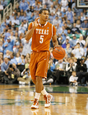 GREENSBORO, NC - DECEMBER 18:  Cory Joseph #5 of the Texas Longhorns against the North Carolina Tar Heels at Greensboro Coliseum on December 18, 2010 in Greensboro, North Carolina.  (Photo by Kevin C. Cox/Getty Images)
