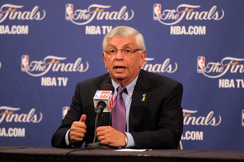 MIAMI, FL - MAY 31:  NBA Commissioner David Stern answers questions from the media during a press conference prior to the Miami Heat hosting the Dallas Mavericks in Game One of the 2011 NBA Finals at American Airlines Arena on May 31, 2011 in Miami, Flori