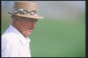 22 Mar 1996:  Sam Snead looks on during the Legends of Golf  tournament at the PGA West Stadium Course in La Quinta, California. Mandatory Credit: J.D. Cuban  /Allsport