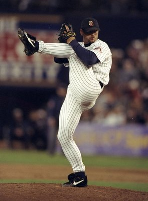 3 Oct 1998: Pitcher Trevor Hoffman #51 of the San Diego Padres in action during the National League Division Playoff Series Game 3 against the Houston Astros at the Qualcomm Stadium in San Diego, Califorina. The Padres defeated the Astros 2-1.