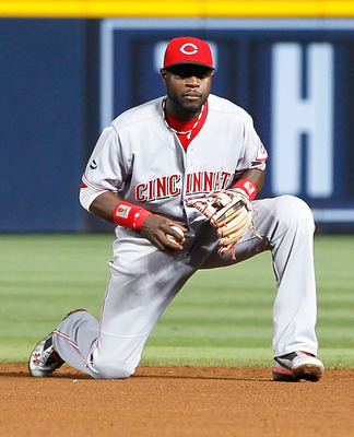 ATLANTA, GA - MAY 29:  Brandon Phillips #4 of the Cincinnati Reds against the Atlanta Braves at Turner Field on May 29, 2011 in Atlanta, Georgia.  (Photo by Kevin C. Cox/Getty Images)
