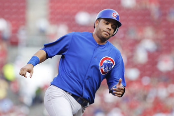 CINCINNATI, OH - JUNE 7: Aramis Ramirez #16 of the Chicago Cubs rounds third base on his way to scoring a run in the second inning against the Cincinnati Reds at Great American Ball Park on June 7, 2011 in Cincinnati, Ohio. The Reds defeated the Cubs 8-2.
