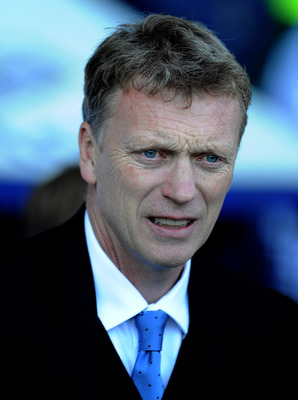 LIVERPOOL, ENGLAND - MAY 22:  Everton Manager David Moyes looks on prior to the Barclays Premier League match between Everton and Chelsea at Goodison Park on May 22, 2011 in Liverpool, England.  (Photo by Chris Brunskill/Getty Images)