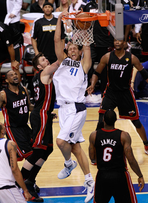 Nowitzki's great footwork and soft shooting touch makes him virtually unguardable.