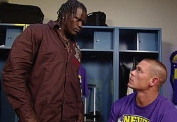 John Cena and R-Truth talking backstage