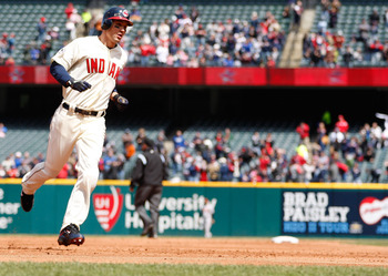 CLEVELAND - APRIL 17:  Grady Sizemore #24 of the Cleveland Indians trots around third base after hitting a solo home run against the Baltimore Orioles during the game on April 17, 2011 at Progressive Field in Cleveland, Ohio.  (Photo by Jared Wickerham/Ge