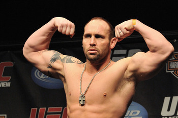 NEWARK, NJ - MARCH 26:  UFC fighter Shane Carwin (pictured) weighs in for his fight against UFC fighter Frank Mir for their Interim Championship Heavyweight fight at UFC 111: St-Pierre vs. Hardy Weigh-In on March 26, 2010 in Newark, New Jersey.  (Photo by