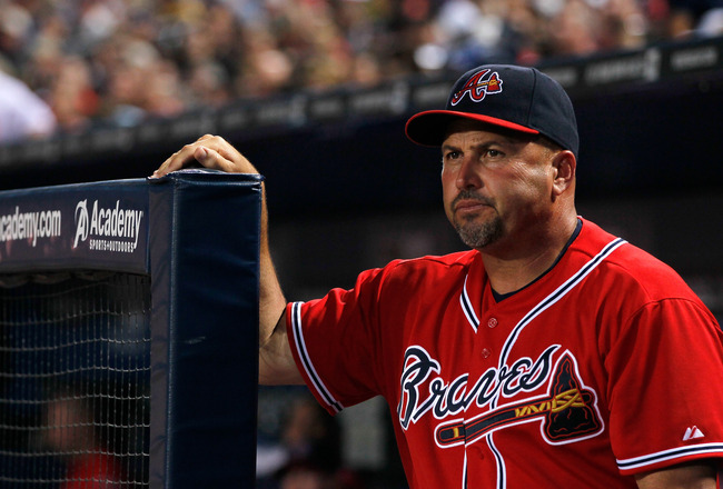 ATLANTA, GA - MAY 29:  Fredi Gonzalez of the Atlanta Braves against the Cincinnati Reds at Turner Field on May 29, 2011 in Atlanta, Georgia.  (Photo by Kevin C. Cox/Getty Images)