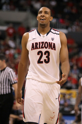 LOS ANGELES, CA - MARCH 12:  Derrick Williams #23 of the Arizona Wildcats reacts in the second half while taking on the Washington Huskies in the championship game of the 2011 Pacific Life Pac-10 Men's Basketball Tournament at Staples Center on March 12,